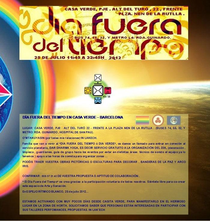 [Event Flier: Casa Verde Barcelona - Contacto 605 37 21 42]