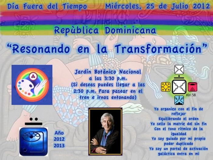 [Event flier: Jardín Botánico Nacional a las 3:30 pm]