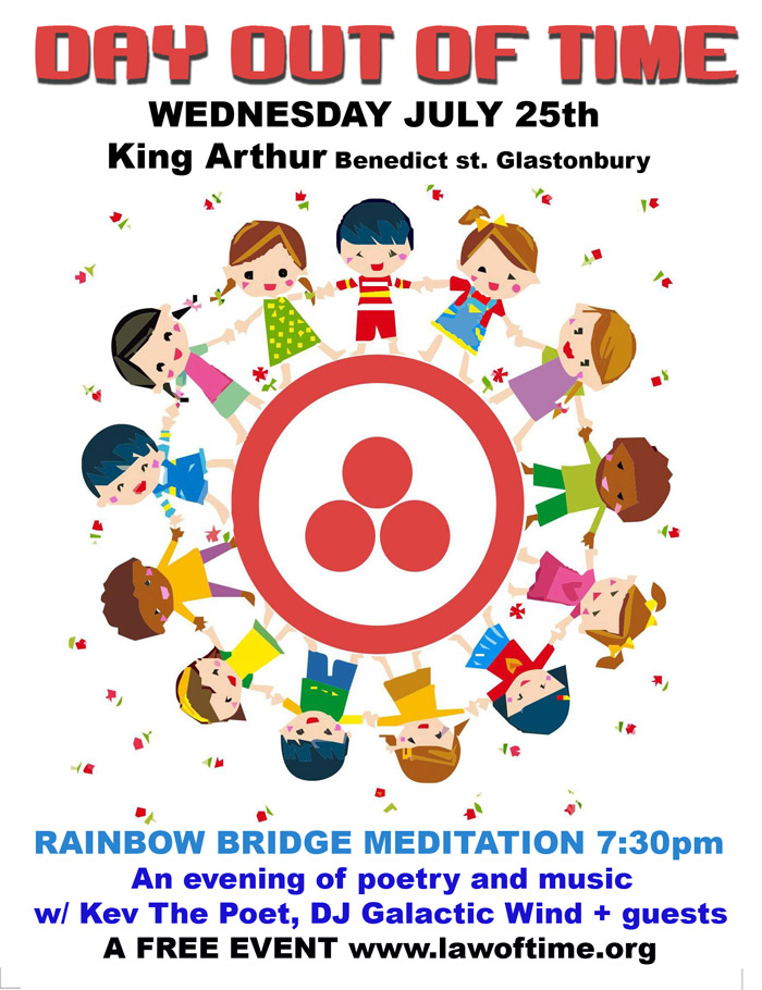 [Event Flier: King Arthur - Benedict st. Glastonbury - An evening of poetry and music w/ Kev The Poet, DJ Galactic Wind + guests]