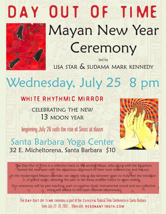 [Event flier: Location: Santa Barbara Yoga Center - Contact Resonanttruth.com]