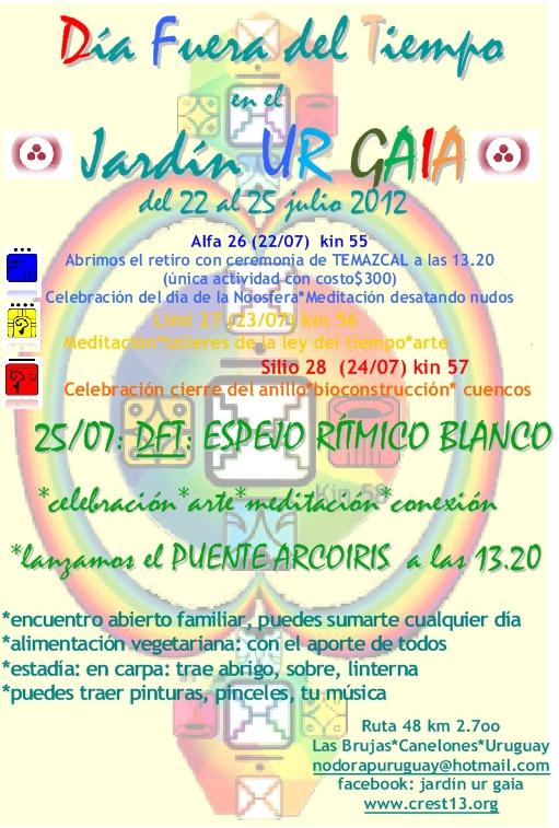 [Event flier - Contact nodorapuruguay@hotmail.com]