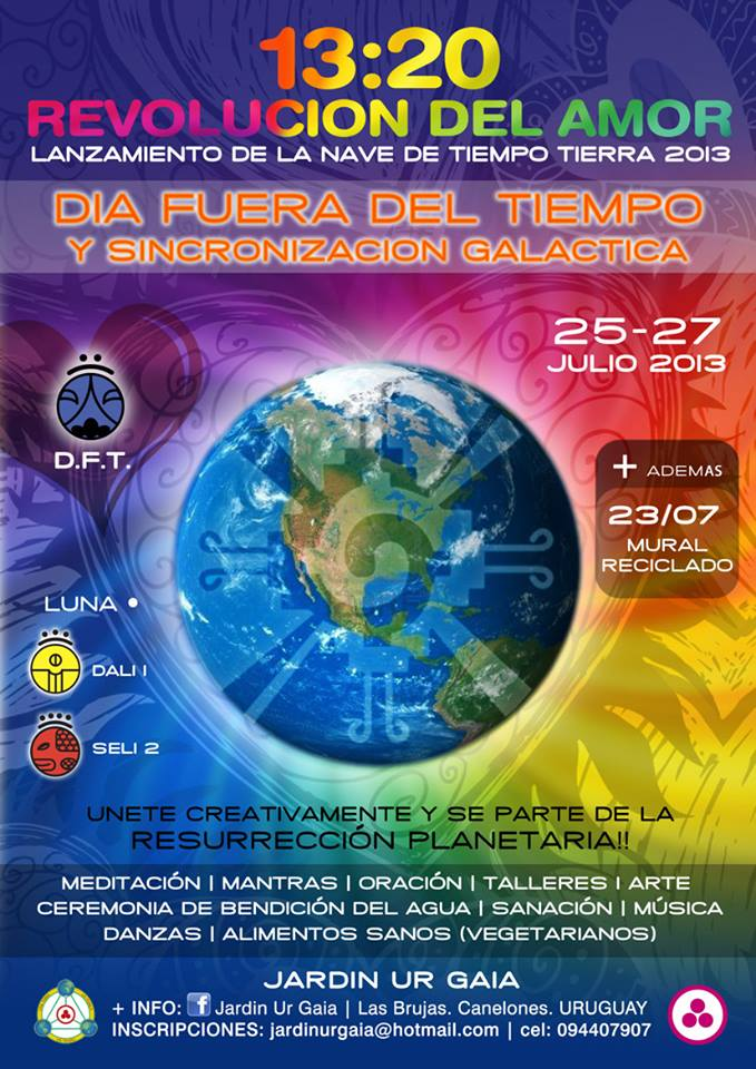[Day out of Time 2013 event flier - Uruguay]