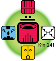 [Fifth Force Oracle graphic for Kin 241]