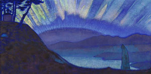 "Nicholas Roerich's painting ""Bridge of Glory"""