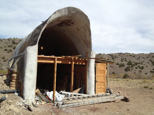[Earthship Chapel onsite at Wirikuta]